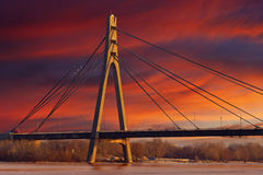 Γέφυρα της Μόσχας Moskovskyi Στοκ Φωτογραφίες