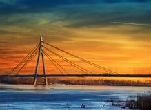 Γέφυρα της Μόσχας Moskovskyi Στοκ Εικόνα