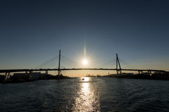 Γέφυρα της Οζάκα Tempozan Oohashi Στοκ φωτογραφίες με δικαίωμα ελεύθερης χρήσης