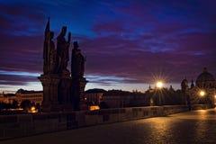 Γέφυρα της Πράγας Στοκ Εικόνες