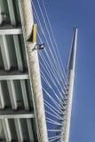 Γέφυρα της Ada αναστολής - πλαίσιο δοκών και Pylon λεπτομέρεια - μπελ Στοκ φωτογραφία με δικαίωμα ελεύθερης χρήσης