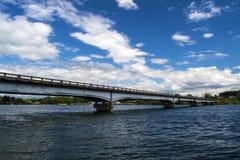 Γέφυρα της Ford Hales - λίμνη βουνών Smith, Βιρτζίνια, ΗΠΑ Στοκ Φωτογραφίες