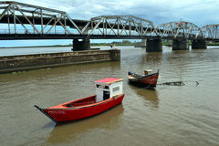 Γέφυρα της Lucia Santa, Μοντεβίδεο, Ουρουγουάη Στοκ φωτογραφία με δικαίωμα ελεύθερης χρήσης