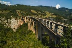 Γέφυρα της Tara στο Μαυροβούνιο, Zabljak Στοκ Εικόνα