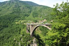 Γέφυρα της Tara Durdevica, Μαυροβούνιο Στοκ εικόνες με δικαίωμα ελεύθερης χρήσης