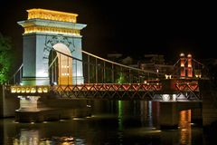 Γέφυρα τη νύχτα σε Guilin, Guangxi, Κίνα στοκ φωτογραφία με δικαίωμα ελεύθερης χρήσης