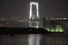 Γέφυρα τη νύχτα Στοκ Φωτογραφία