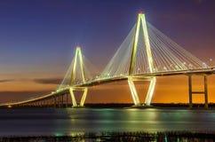 Γέφυρα του Άρθουρ Ravenel στοκ φωτογραφίες