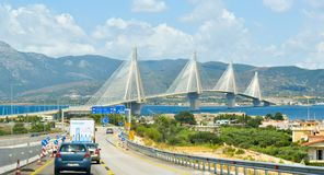 Γέφυρα του Αντιρρίου Rio†«, Ελλάδα στοκ φωτογραφία με δικαίωμα ελεύθερης χρήσης