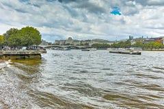 Γέφυρα του Βατερλώ πέρα από τον ποταμό του Τάμεση, Λονδίνο, Αγγλία Στοκ Φωτογραφίες