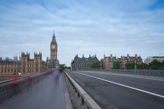 Γέφυρα του Γουέστμινστερ, Big Ben το πρωί Στοκ Εικόνα