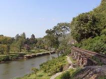 Γέφυρα του θανάτου στον ποταμό Kwai Στοκ φωτογραφία με δικαίωμα ελεύθερης χρήσης
