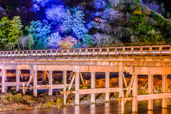 Γέφυρα του Κιότο Arashiyama Στοκ Εικόνες