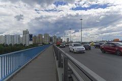 Γέφυρα του Λένινγκραντ πέρα από το κανάλι της Μόσχας Στοκ φωτογραφία με δικαίωμα ελεύθερης χρήσης