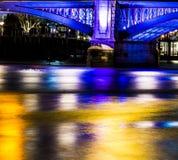 Γέφυρα του Λονδίνου άποψης νύχτας Στοκ εικόνα με δικαίωμα ελεύθερης χρήσης