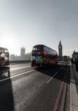 Γέφυρα του Λονδίνου με Big Ben στο υπόβαθρο Στοκ Φωτογραφία