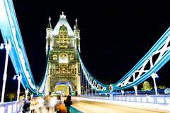Γέφυρα του Λονδίνου, νύχτα Στοκ Εικόνες