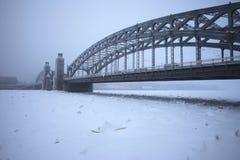 Γέφυρα του Μέγας Πέτρου το χειμώνα Στοκ φωτογραφίες με δικαίωμα ελεύθερης χρήσης