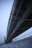 Γέφυρα του Μέγας Πέτρου το χειμώνα Στοκ εικόνα με δικαίωμα ελεύθερης χρήσης