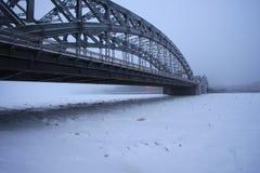 Γέφυρα του Μέγας Πέτρου το χειμώνα Στοκ φωτογραφία με δικαίωμα ελεύθερης χρήσης