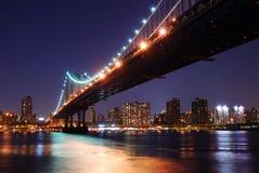 Γέφυρα του Μανχάτταν πόλεων της Νέας Υόρκης Στοκ φωτογραφία με δικαίωμα ελεύθερης χρήσης