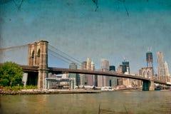 Γέφυρα του Μπρούκλιν και NYC στοκ εικόνες