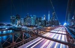 Γέφυρα του Μπρούκλιν, Νέα Υόρκη, 08-26-17: όμορφη γέφυρα του Μπρούκλιν Στοκ Εικόνα