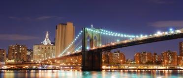 Γέφυρα του Μπρούκλιν, πόλη Μανχάτταν της Νέας Υόρκης Στοκ φωτογραφίες με δικαίωμα ελεύθερης χρήσης