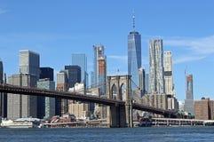 Γέφυρα του Μπρούκλιν στην πόλη της Νέας Υόρκης Στοκ φωτογραφία με δικαίωμα ελεύθερης χρήσης