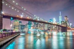 Γέφυρα του Μπρούκλιν στην πόλη της Νέας Υόρκης στοκ εικόνες με δικαίωμα ελεύθερης χρήσης