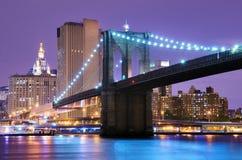 Γέφυρα του Μπρούκλιν στη Νέα Υόρκη Στοκ Φωτογραφίες
