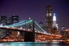 Γέφυρα του Μπρούκλιν του Μανχάτταν πόλεων της Νέας Υόρκης Στοκ εικόνα με δικαίωμα ελεύθερης χρήσης