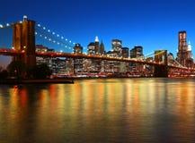 Γέφυρα του Μπρούκλιν Στοκ Φωτογραφία