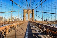Γέφυρα του Μπρούκλιν, πόλη της Νέας Υόρκης, καμία Στοκ Φωτογραφίες