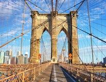 Γέφυρα του Μπρούκλιν, πόλη της Νέας Υόρκης, καμία Στοκ Φωτογραφία