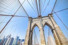 Γέφυρα του Μπρούκλιν στην πόλη της Νέας Υόρκης, ΗΠΑ Στοκ Φωτογραφίες