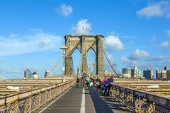 Γέφυρα του Μπρούκλιν στη Νέα Υόρκη Στοκ Φωτογραφία