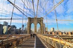 Γέφυρα του Μπρούκλιν στη Νέα Υόρκη Στοκ φωτογραφία με δικαίωμα ελεύθερης χρήσης