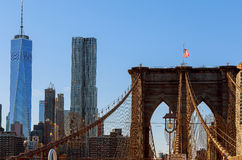 Γέφυρα του Μπρούκλιν στις Ηνωμένες Πολιτείες Στοκ Εικόνες