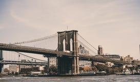 Γέφυρα του Μπρούκλιν στοκ φωτογραφίες με δικαίωμα ελεύθερης χρήσης