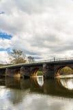 Γέφυρα του Ουίλτον που διασχίζει Wye ποταμών κοντά στο Ross Wye Στοκ Εικόνα