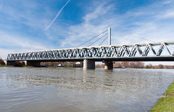 Γέφυρα του Ρήνου στην Καρλσρούη, Γερμανία στοκ φωτογραφία