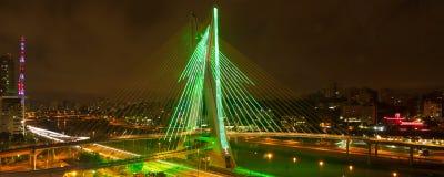 Γέφυρα του Σάο Πάολο τη νύχτα Στοκ φωτογραφίες με δικαίωμα ελεύθερης χρήσης