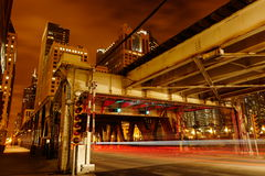 Γέφυρα του Σικάγου Στοκ Φωτογραφία