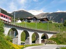 Γέφυρα του σιδηροδρόμου Rhaetian Στοκ Φωτογραφίες