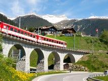 Γέφυρα του σιδηροδρόμου Rhaetian Στοκ Εικόνες