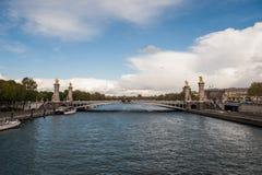 Γέφυρα του Alexandre ΙΙΙ στο Παρίσι στοκ φωτογραφία