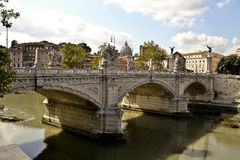 Γέφυρα του Angelo Sant με τα αγάλματα Bernini, Ρώμη, Ιταλία Στοκ εικόνες με δικαίωμα ελεύθερης χρήσης