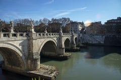 γέφυρα του Angelo sant Ρώμη Ρώμη, Ιταλία Στοκ Φωτογραφίες
