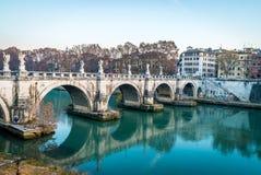 Γέφυρα του Angelo Sant στη Ρώμη Στοκ εικόνες με δικαίωμα ελεύθερης χρήσης